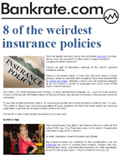 8 of the weirdest insurance policies