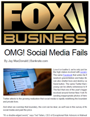 Social Media Fails by Ted Tafaro